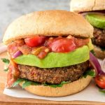 High protein, fiber, Omega-3s, and DELICIOUS! Try these Smoky Black Bean Vegan Burgers tonight for dinner. They're packed with super foods, easy to freeze, and even my picky toddler loved them! @wellplated