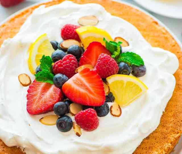 Flourless Lemon Almond Cake With Fresh Berries A Light Fluffy And Gluten Free