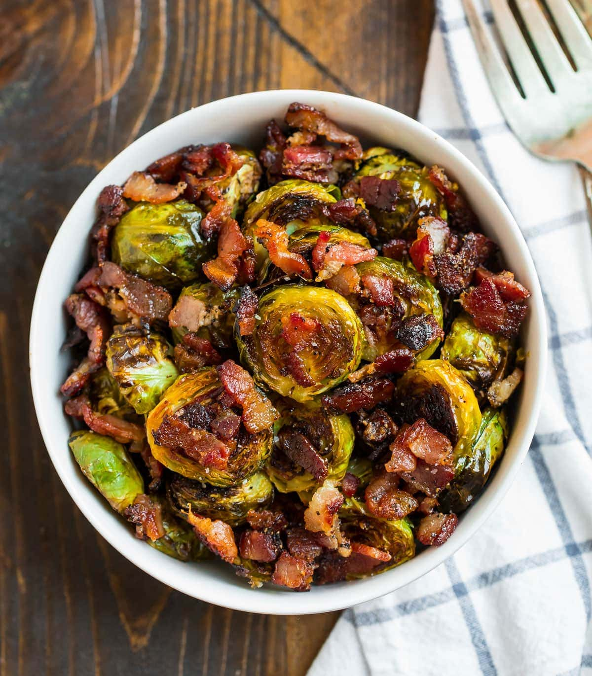 Bacon Brussels Sprouts with Maple Syrup