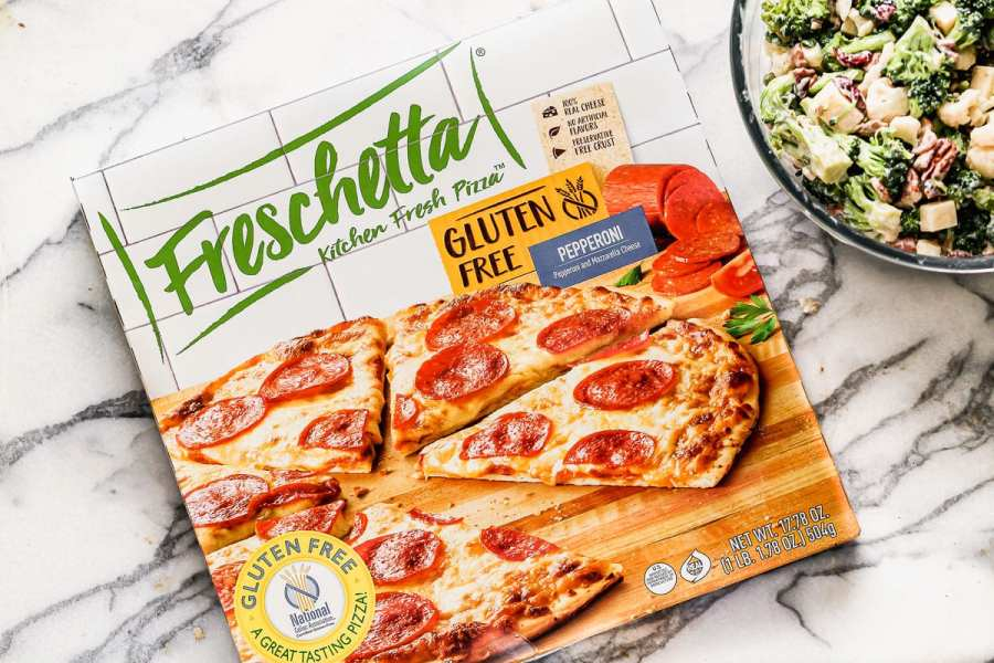 A box of Freschetta gluten free pizza