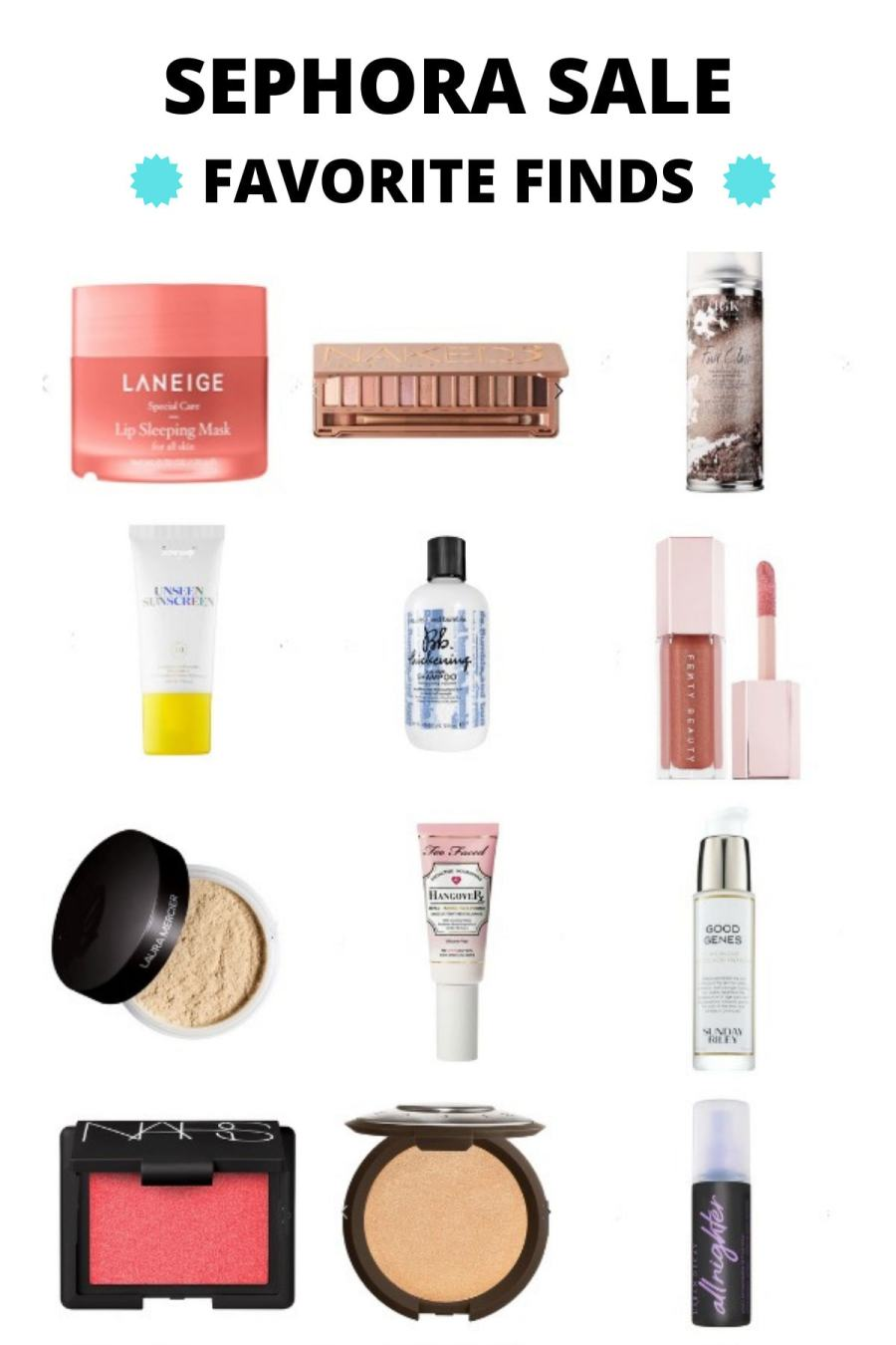 A collage of items from Sephora