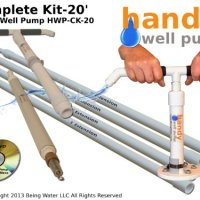 Handy Well Pump Kit Model HWP-CK20 Hand Well Pump For Shallow or Deep Wells with Extension Pipes and Handle