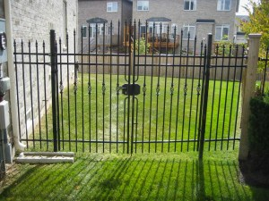 landscape-Burlington metal fence iron