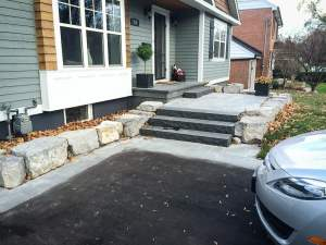 landscape-Oakville stone entrance steps
