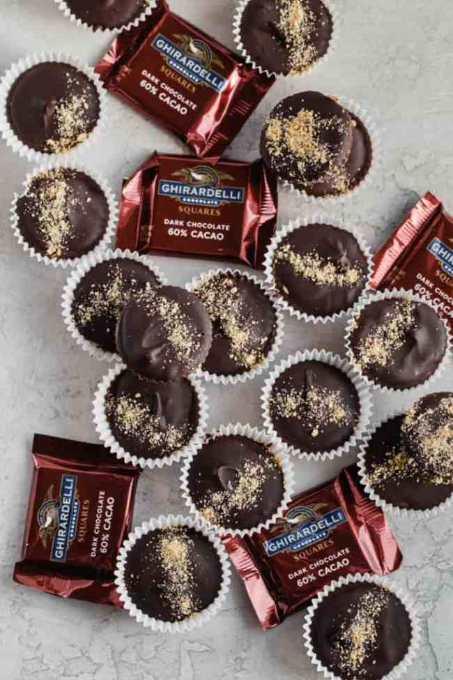 dark chocolate s'mores peanut butter cups!