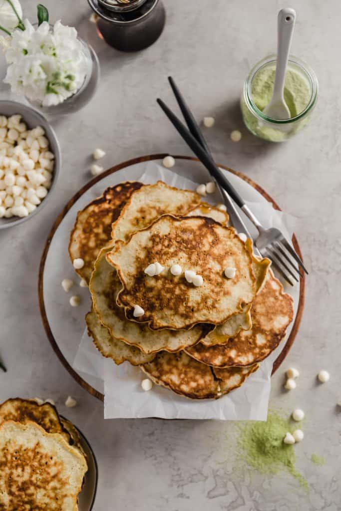 Matcha Latte Pancakes