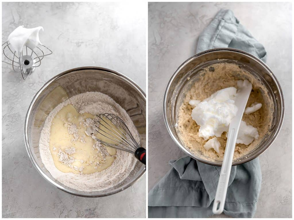 buttermilk waffle batter with egg whites