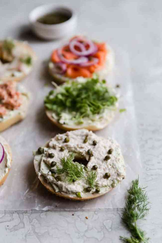 how to construct the perfect bagel board