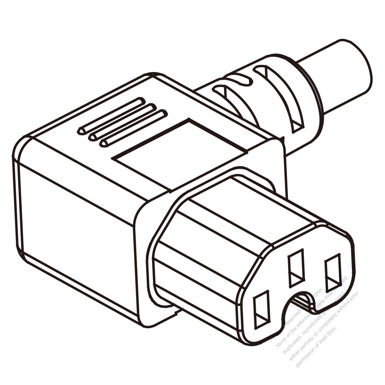 Uk Iec 320 C15 Connectors 3 Pin Angle Left 10a 250v