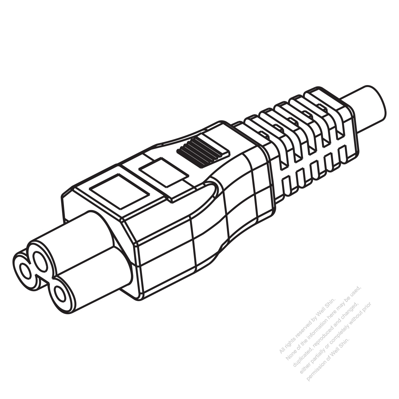 Iec 320 C5 Connectors 3 Pin Straight 10a 125 250v