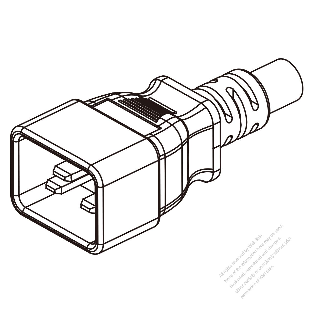 Iec 320 Sheet E C20 Plug Connectors 3 Pin Straight 13a