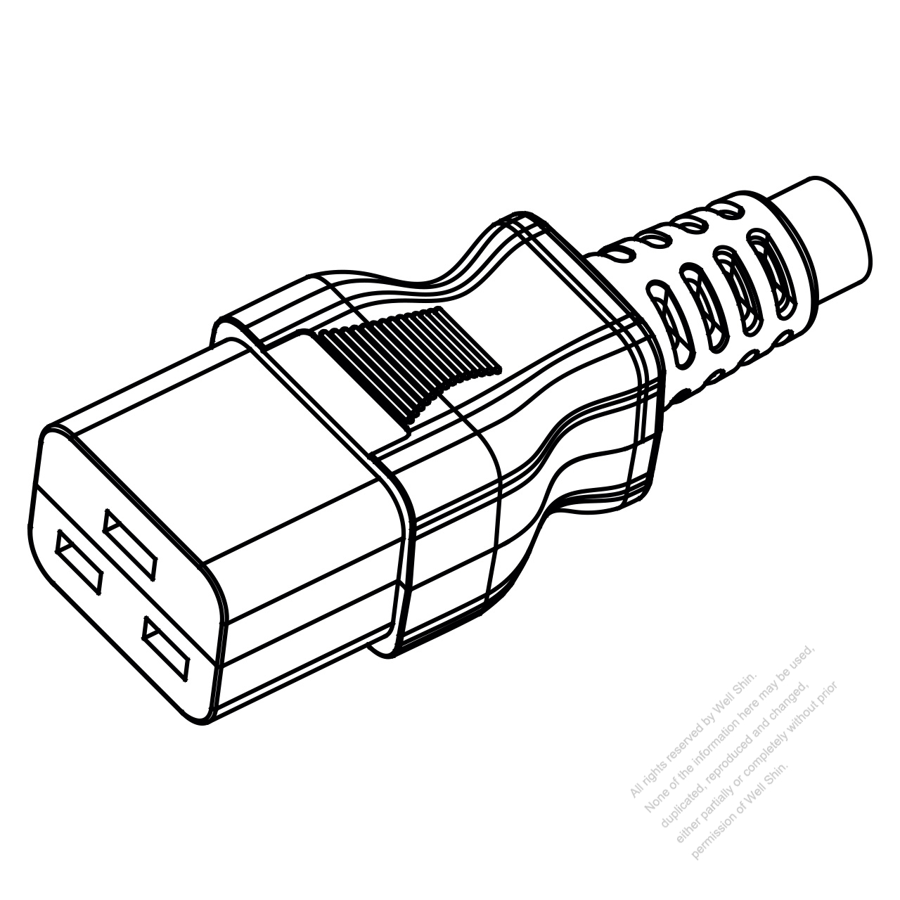 Europe Iec 320 C19 Connectors 3 Pin Straight 16a 250v
