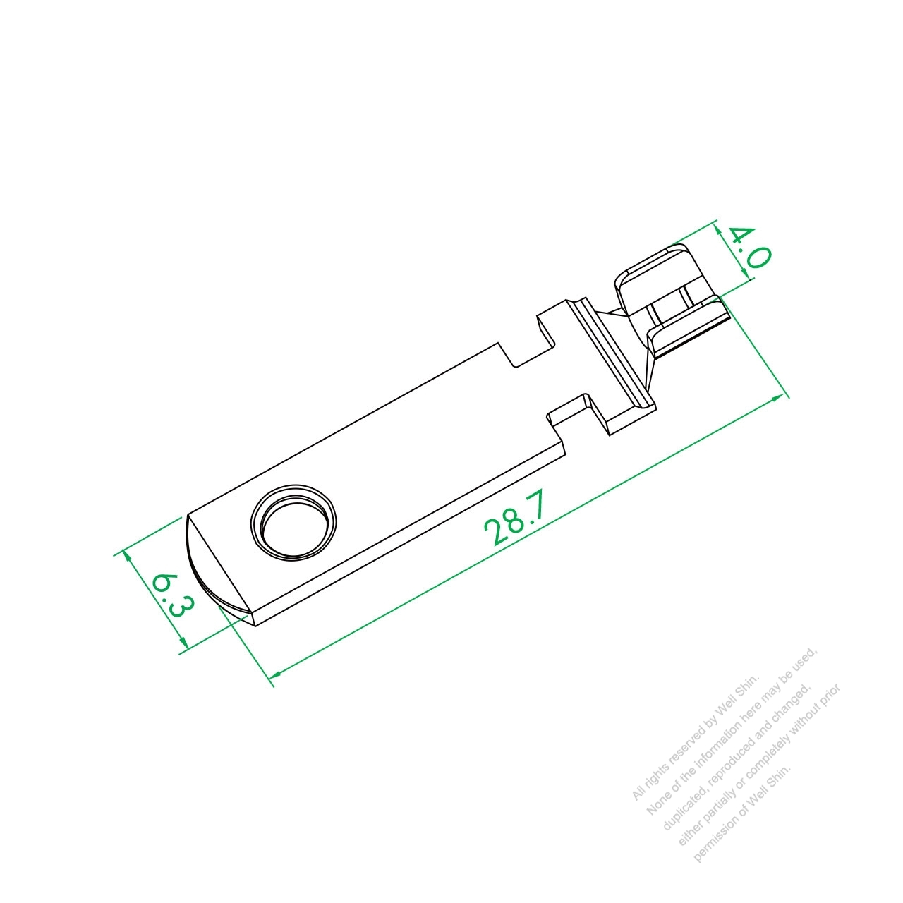 Ws 001 18 Single Plug Pin