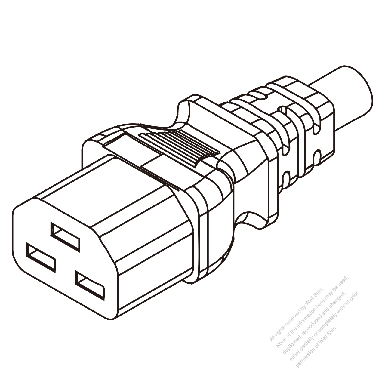 Europe Iec 320 C21 Connectors 3 Pin Straight 16a 250v