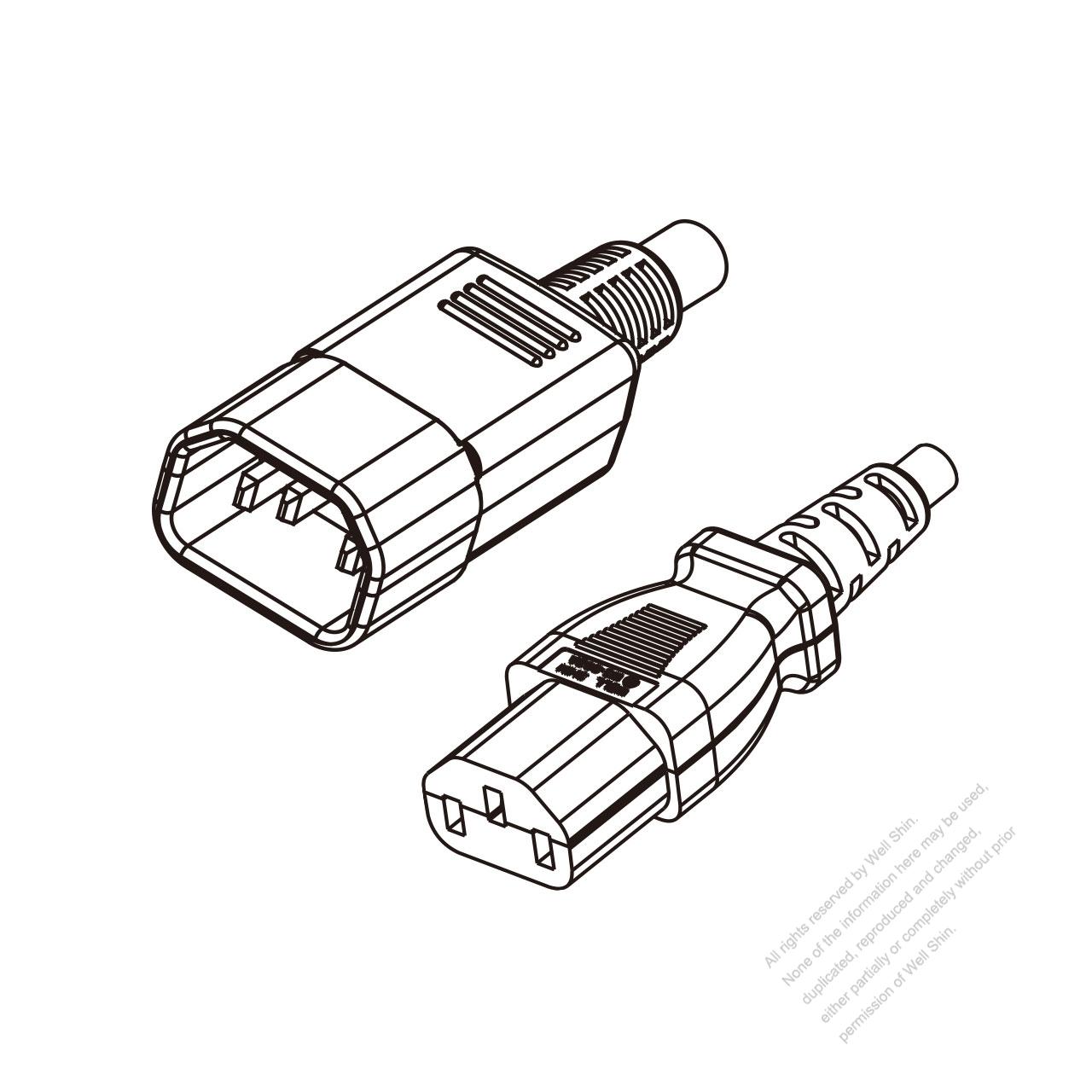Uk 3 Pin Iec 320 Sheet E Plug To Iec 320 C13 Power Cord