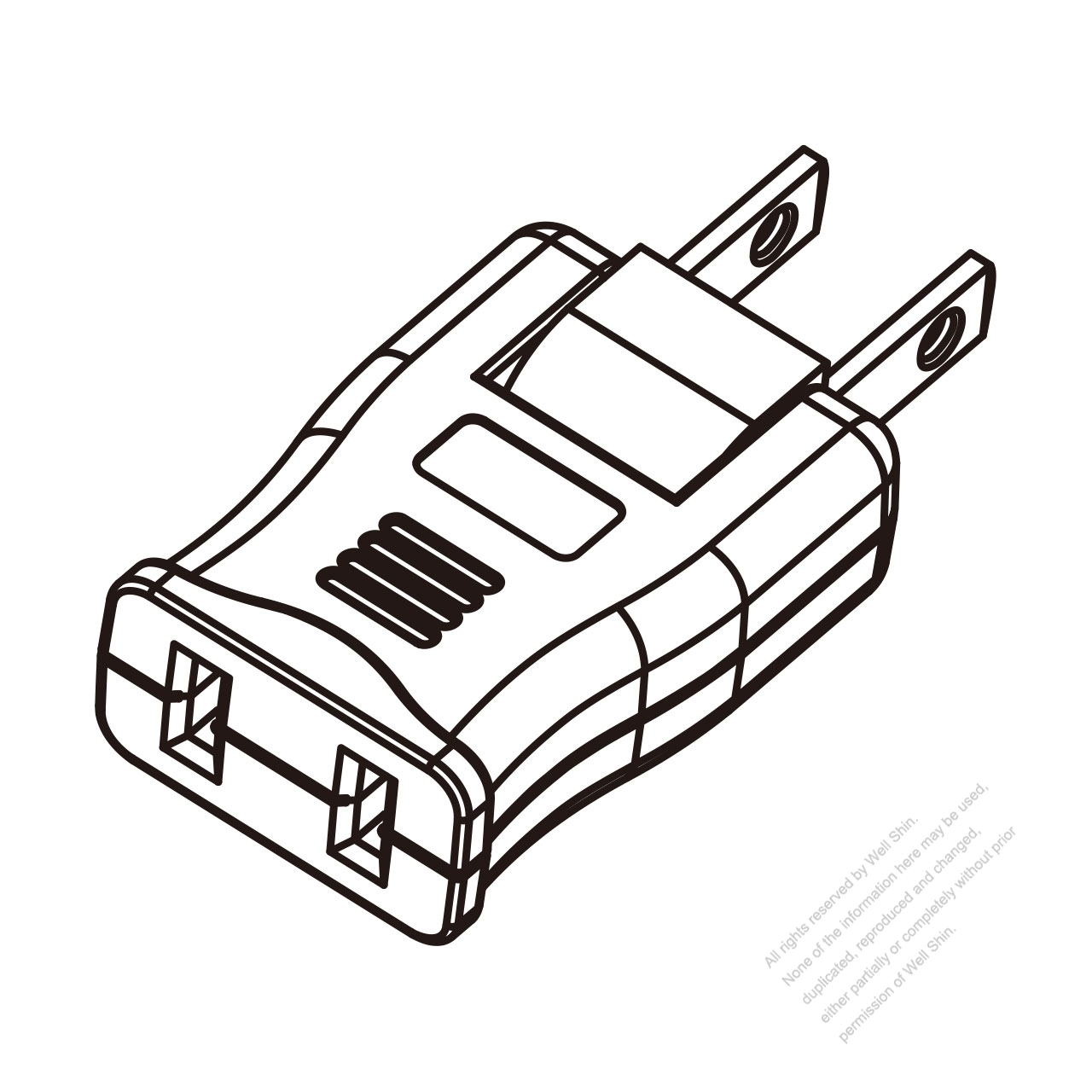 Adapter Plug Us Nema 1 15p Plug To 1 15r Connector 180o
