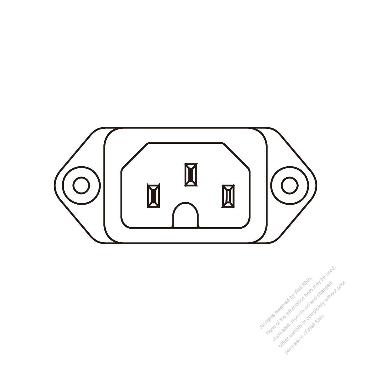 Ac Socket Iec 1 C16 Appliance Inlet Screw Type