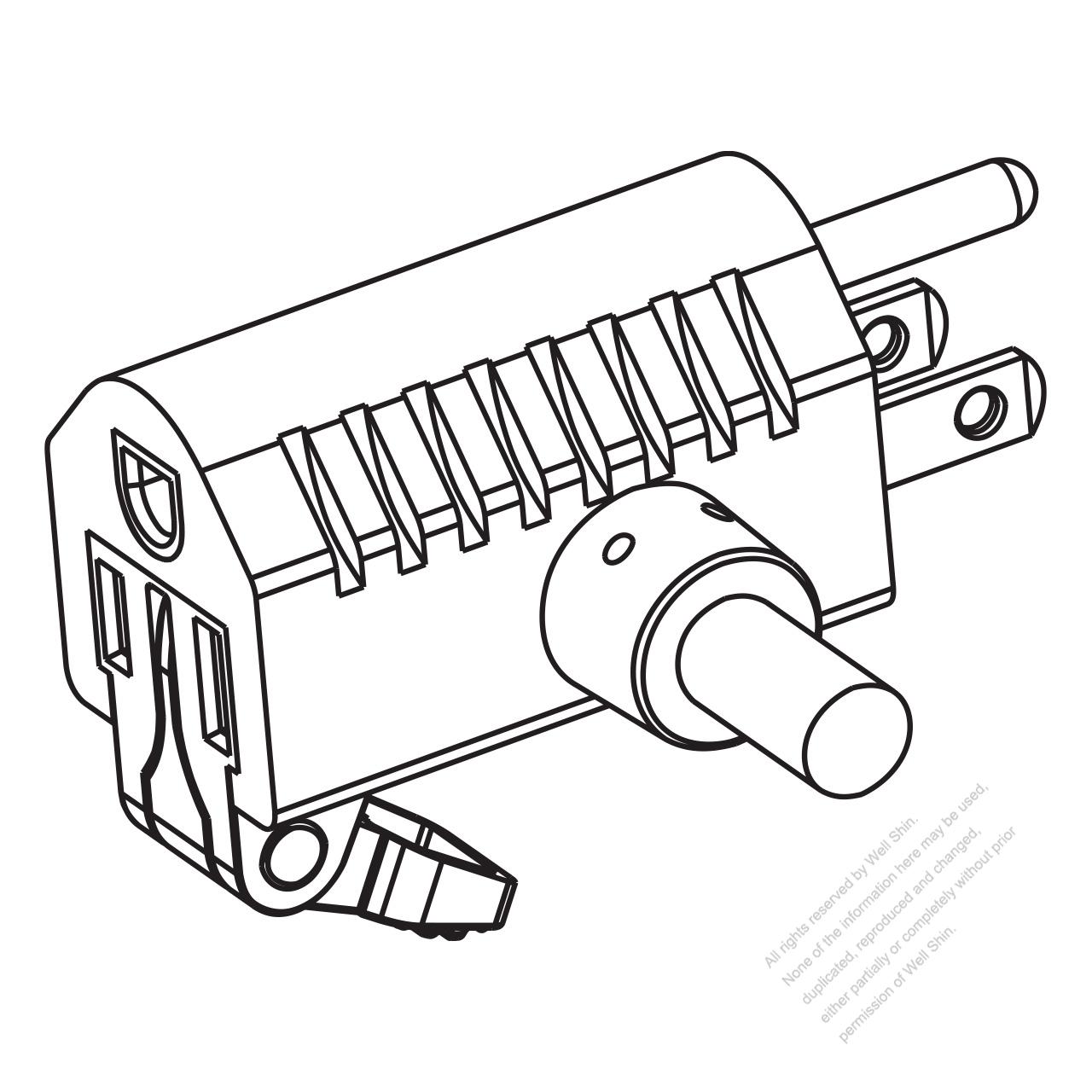 Usa Canada Nema 5 15p 15r T Shape Ac Plug 2 P 3 Wire Grounding 15a 125v