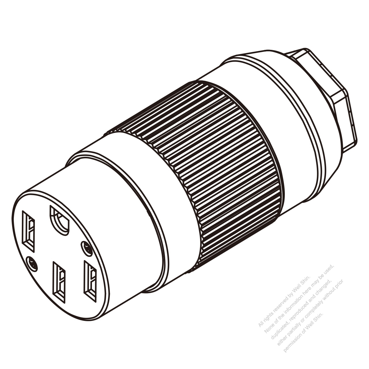 Usa Canada Connector Nema 14 50r 4 Pin 3 P 4 Wire
