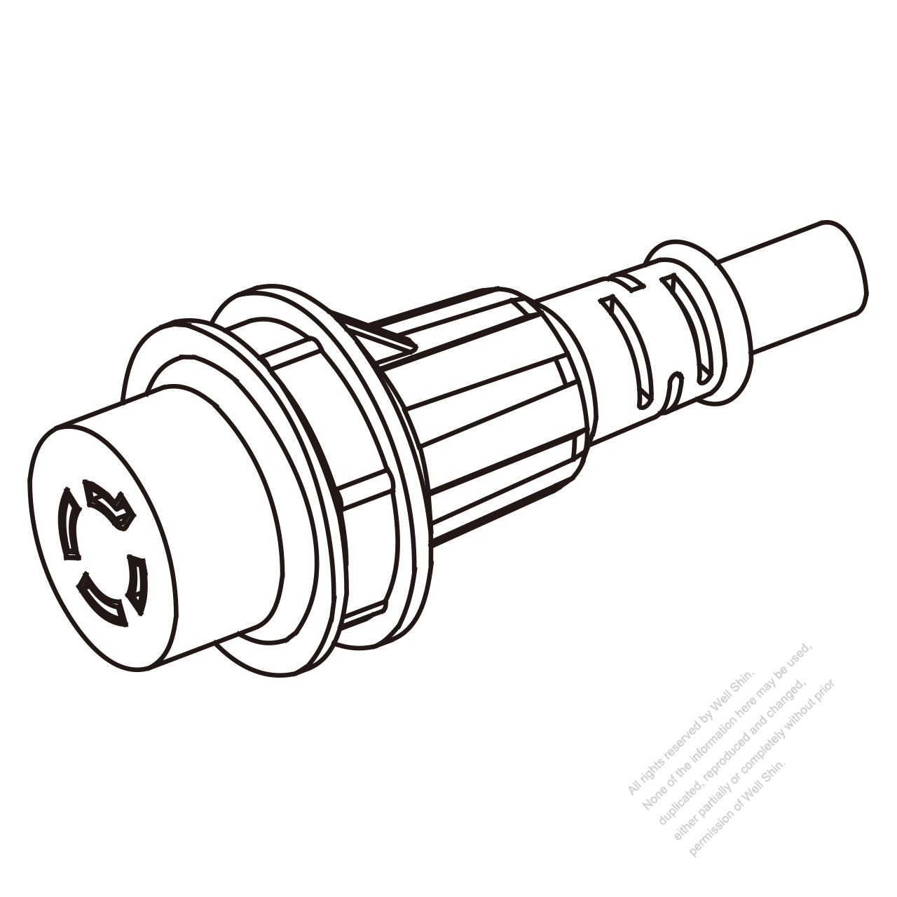 Marine Shore Twist Locking Waterproof Connector Nema L14