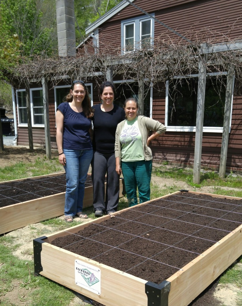 Volunteers from Generous Gardeners of Gloucester visited in June to plant a 600 square foot perennial garden at the end of Wellspring's new parking lot.