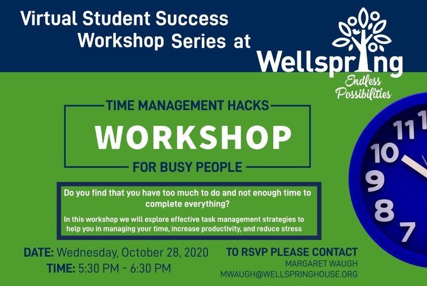 NEW Student Success Workshop: Time Management Hacks for Busy People