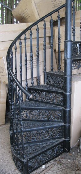 Spiral Staircase Wells Reclamation   Cast Iron Spiral Staircase For Sale   Second Hand   Used   Portable   Modular   Rod Iron