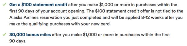 30,000 Miles + $100 Sign-up Bonus Offer on the Alaska Airlines Visa-01