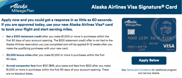 30,000 Miles + $100 Sign-up Bonus Offer on the Alaska Airlines Visa-02