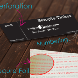 custom ticket printong uk free delivery made to meausre upload artwork