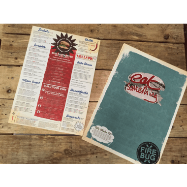 Uncoated Menu Printing