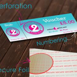 Gift Voucher design and print uk