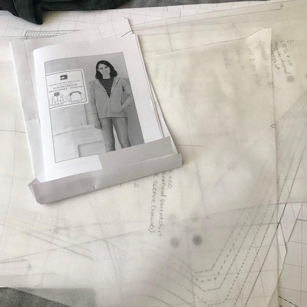 Liesl + Co neighborhood sweatshirt sew-a-long