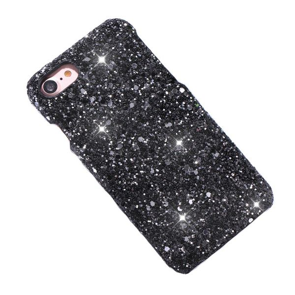 iPhone 8 Plus & 7 Plus Powder Glitter Cover Black