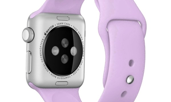 Silicone Sports Band for Apple Watch 38mm & 40mm Lilac
