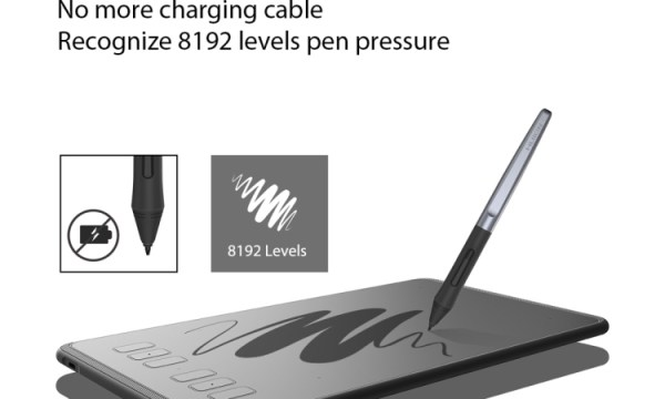 Huion H640P Graphics Drawing Tablet With Stylus