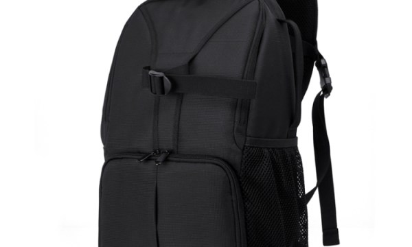 DSLR Camera Backpack Black & Purple