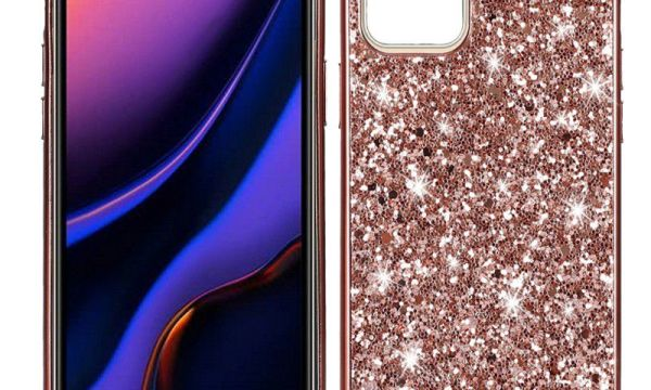 Rose Gold Powder Glitter Cover iPhone 12