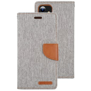 """Canvas Diary Cover iPhone 12 Mini 5.4"""" Grey"""