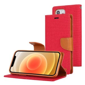 """anvas Diary Cover iPhone 12 / 12 Pro 6.1"""" Red"""