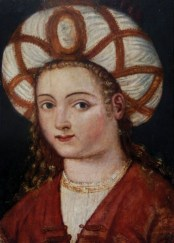 16th century oil portrait of Hurrem Sultan