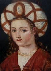 16th century oil portrait of Hurrem Sultan