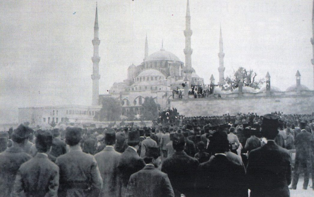 1910s Istanbul Sultanahmet Demonstrations