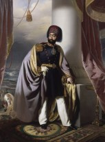 A photo of reformist Sultan Mahmud II after his clothing reform in 1826