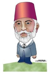 Caricature of Ali Fuad Bey