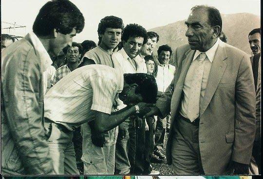 Alparslan Türkeş with his supporters