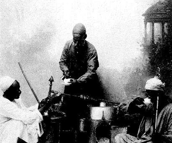 Cafetier ambulant (travelling cafe owner), around 1875