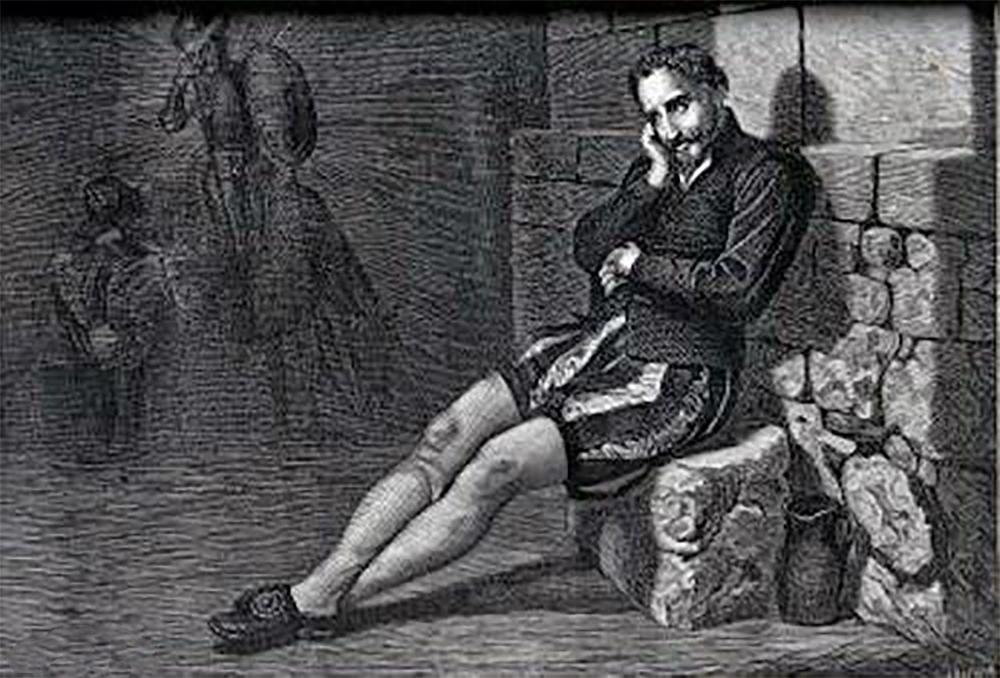 Cervantes in prison