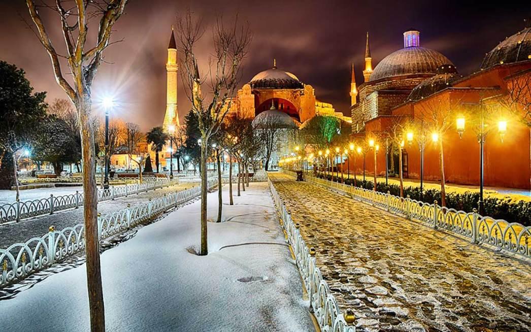 Hagia Sophia Snow