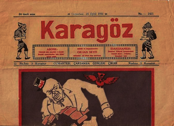 The first issue of the Karagöz Magazine that published in the Latin Alphabet on 26 September, 1931